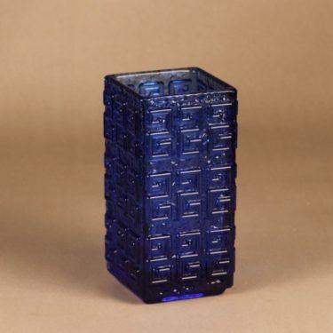 Riihimäen lasi Taalari maljakko, sininen, suunnittelija Tamara Aladin, massiivinen