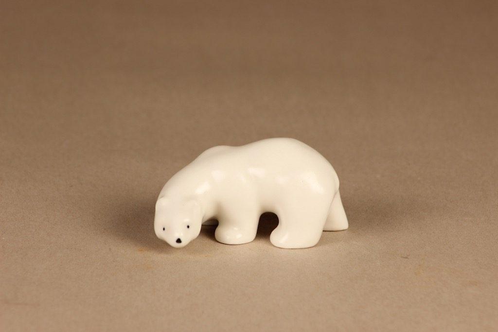 Arabia figuuri , jääkarhu, suunnittelija Raili Eerola, jääkarhu