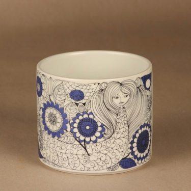Arabia Pastoraali maljakko, sininen, suunnittelija Esteri Tomula, serikuva, satuaihe kuva 2