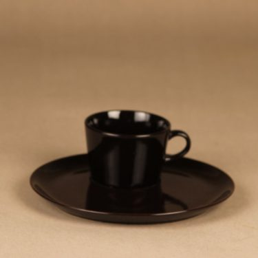 Arabia Kilta coffee cup and plate, TV-set designer Kaj Franck