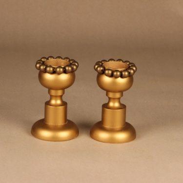 Aarikka kynttilänjalat, kulta, 2 kpl, suunnittelija Kaija Aarikka,