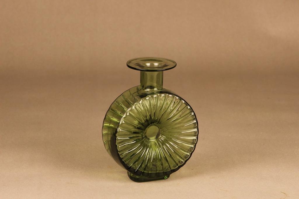 Riihimäen lasi Aurinkopullo green size 2/4 designer Helena Tynell