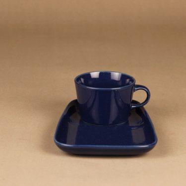 Arabia Kilta kahvikuppi ja erikoislautanen, sininen, suunnittelija Kaj Franck,  kuva 2