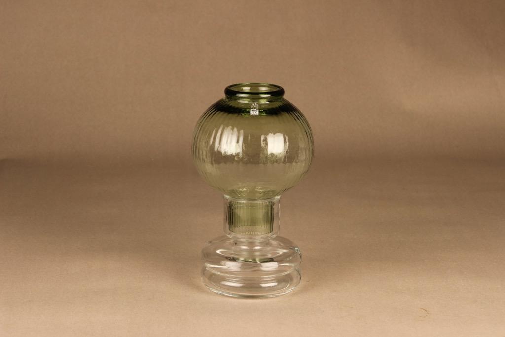 Riihimäen lasi Tuikku kynttilälyhty, vaaleanvihreä, suunnittelija Nanny Still,