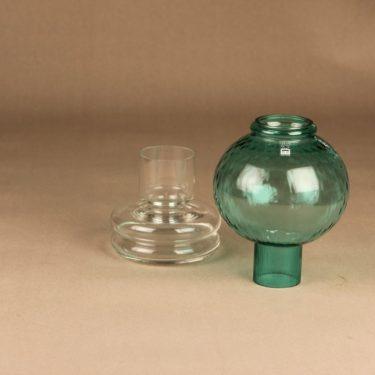 Riihimäen lasi Tuikku kynttilälyhty, vihreä, suunnittelija Nanny Still,  kuva 2