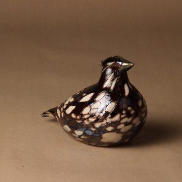 Nuutajärvi lintu , Ruffed Grouse, suunnittelija Oiva Toikka, Ruffed Grouse, tilaustyö, numeroitu, signeerattu kuva 2