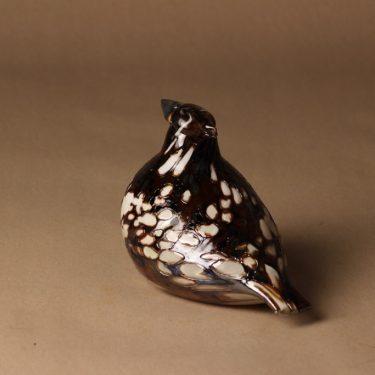 Nuutajärvi lintu , Ruffed Grouse, suunnittelija Oiva Toikka, Ruffed Grouse, tilaustyö, numeroitu, signeerattu kuva 3