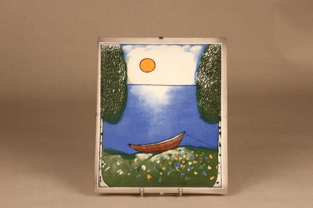 Arabia wall plate summer designer Heljä Liukko-Sundström