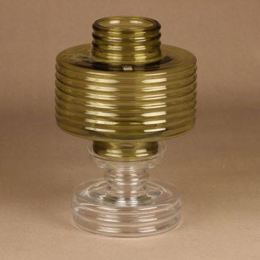 Riihimäen lasi Apollo kynttilälyhty, oliivinvihreä, suunnittelija Nanny Still,