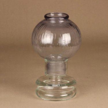 Riihimäen lasi Tuikku kynttilälyhty, vaalea lila, suunnittelija Nanny Still,