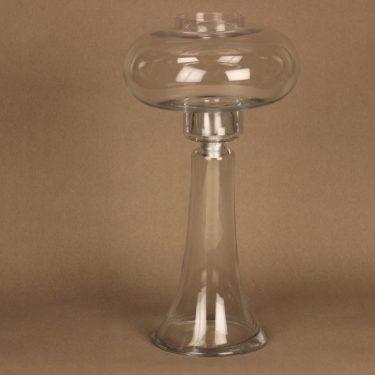 Riihimäen lasi Majakka kynttilälyhty, kirkas, suunnittelija Nanny Still,