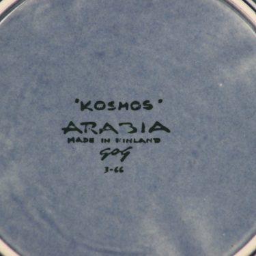 Arabia Kosmos lautanen, puhalluskoriste, suunnittelija Gunvor Olin-Grönqvist, puhalluskoriste kuva 2