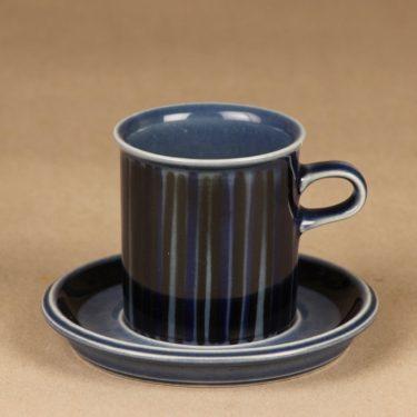 Arabia Kosmos kahvikuppi, puhalluskoriste, suunnittelija Gunvor Olin-Grönqvist, puhalluskoriste