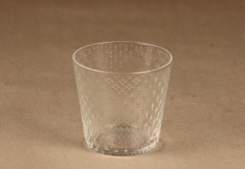 Nuutajärvi Tundra lasi, Old fashioned 18 cl, suunnittelija Oiva Toikka, Old fashioned 18 cl, 6 kappaleen ostajalle alkuperäinen paketti mukaan.