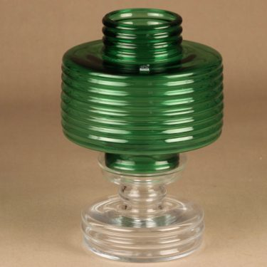 Riihimäen lasi Apollo candle votive green designer Nanny Still