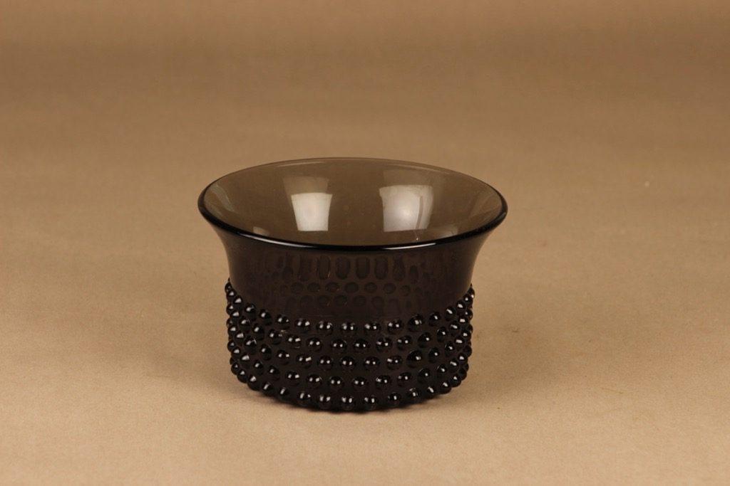 Nuutajärvi 5371 Näppylä bowl, gray designer Nanny Still