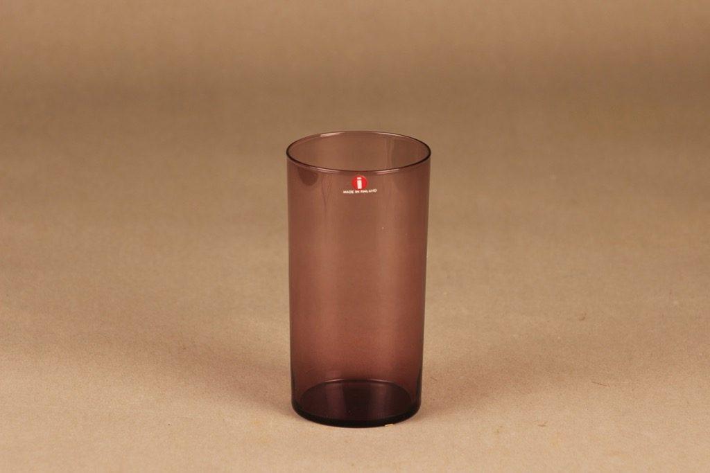 Nuutajärvi I-lasi lasi, lila, suunnittelija Timo Sarpaneva,