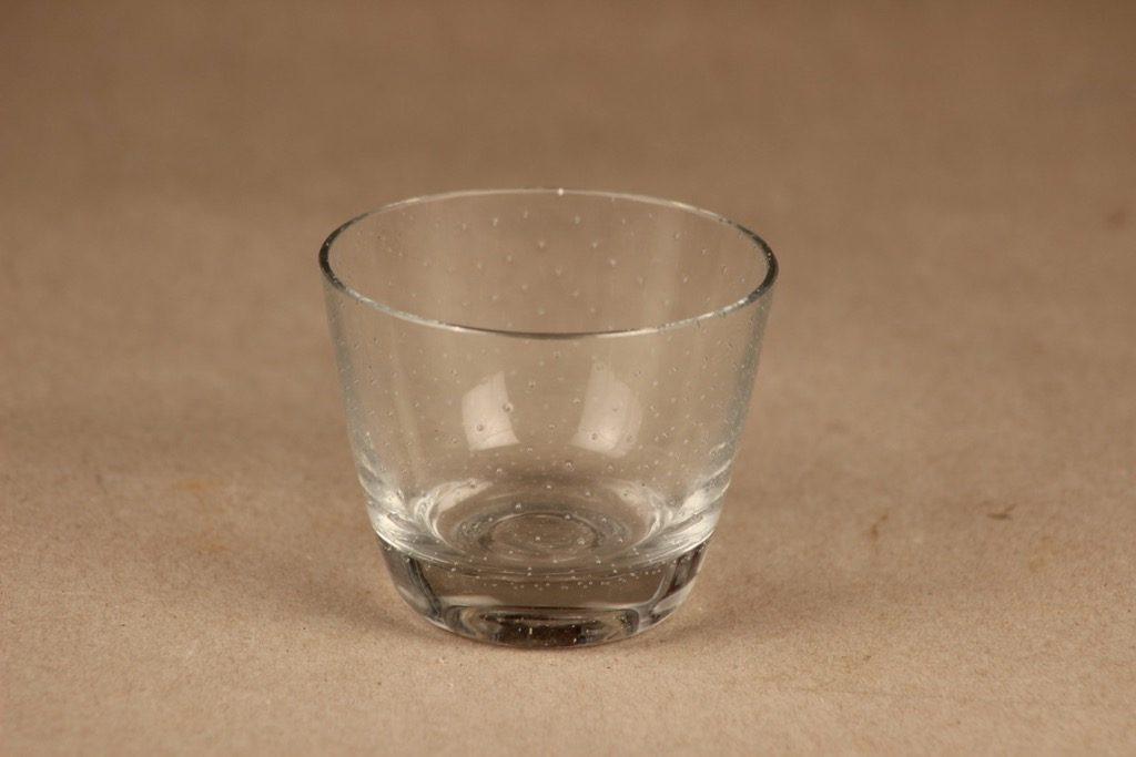 Nuutajärvi Pore lasi, kirkas, suunnittelija Gunnel Nyman,