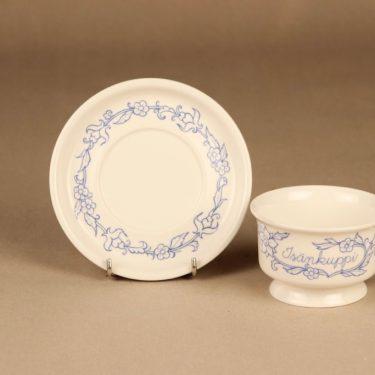 Arabia Sininen keittiö teekuppi, Isän kuppi, suunnittelija Raija Uosikkinen, Isän kuppi kuva 2
