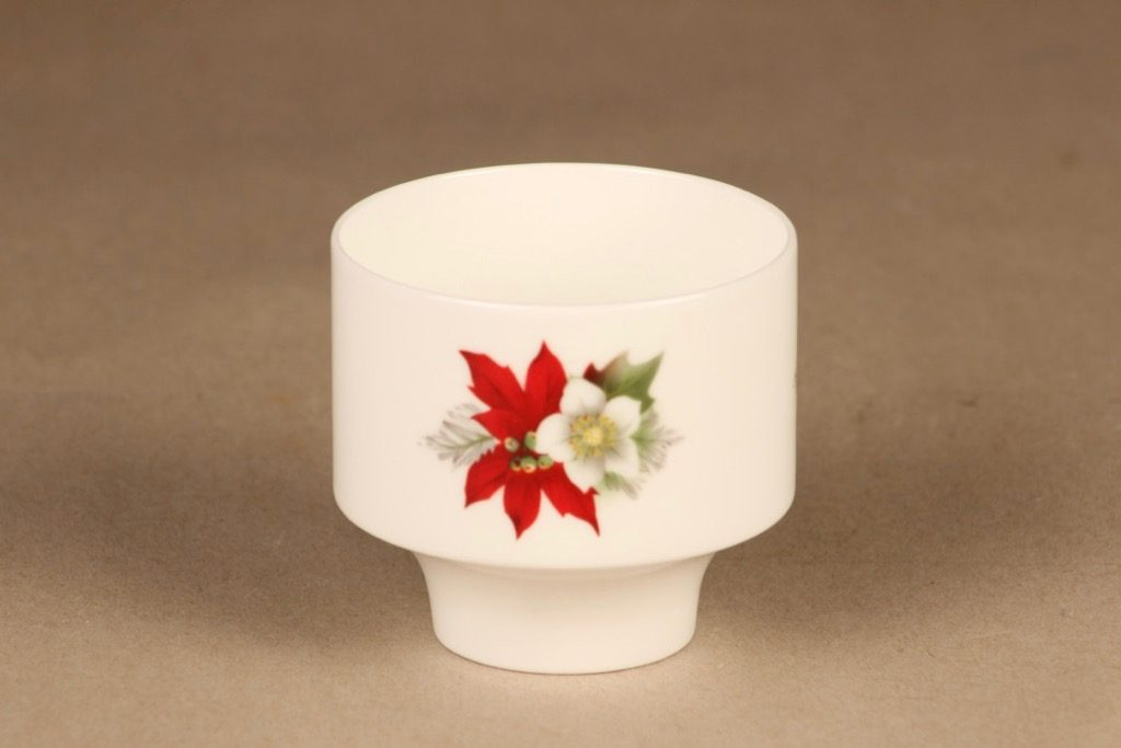 Arabia candle holder Poinsettia