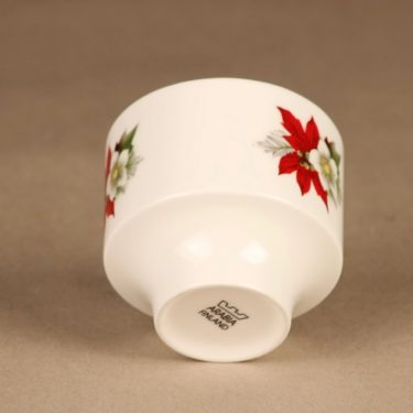 Arabia candle holder Poinsettia 2
