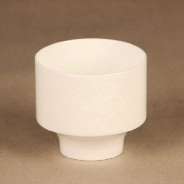 Arabia Pitsi candle holder white designer Raija Uosikkinen