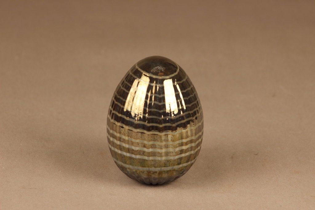 Nuutajärvi uniikki muna, signeerattu, suunnittelija Oiva Toikka, signeerattu