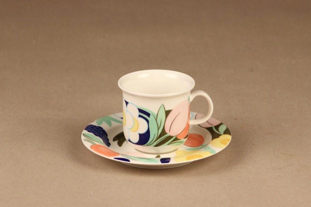 Arabia Arctica Poetica kahvikuppi, monivärinen, suunnittelija Dorrit von Fieandt,
