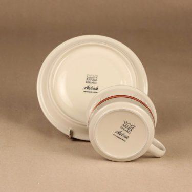 Arabia Aslak teekuppi ja lautaset, 25 cl, suunnittelija Inkeri Leivo, 25 cl kuva 3