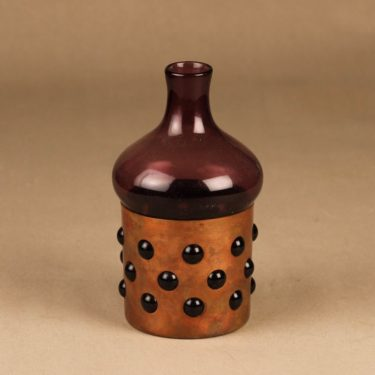 Kumela decorative bottle with metal strap designer Jan Salakari