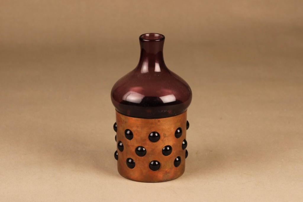 Kumela decorative bottle with metal strap designer Jan Salakari