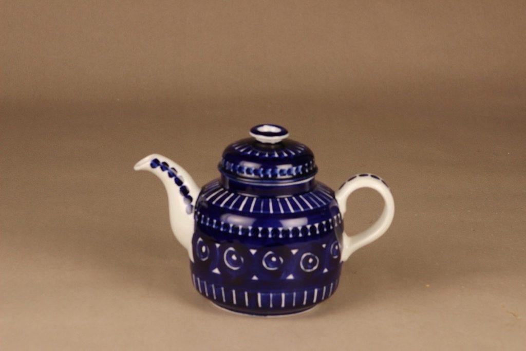 Arabia Valencia teekaadin, 1 l, suunnittelija Ulla Procope, 1 l, käsinmaalattu, signeerattu