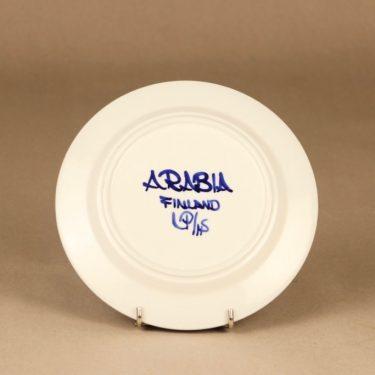 Arabia Valencia leivoslautanen, käsinmaalattu, suunnittelija Ulla Procope, käsinmaalattu, signeerattu kuva 3
