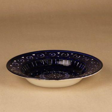 Arabia Valencia lautanen, syvä, suunnittelija Ulla Procope, syvä, käsinmaalattu, signeerattu kuva 2