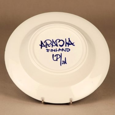 Arabia Valencia lautanen, syvä, suunnittelija Ulla Procope, syvä, käsinmaalattu, signeerattu kuva 3