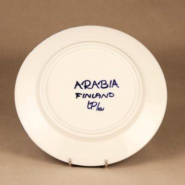 Arabia Valencia lautanen, matala, suunnittelija Ulla Procope, matala, käsinmaalattu, signeerattu kuva 3