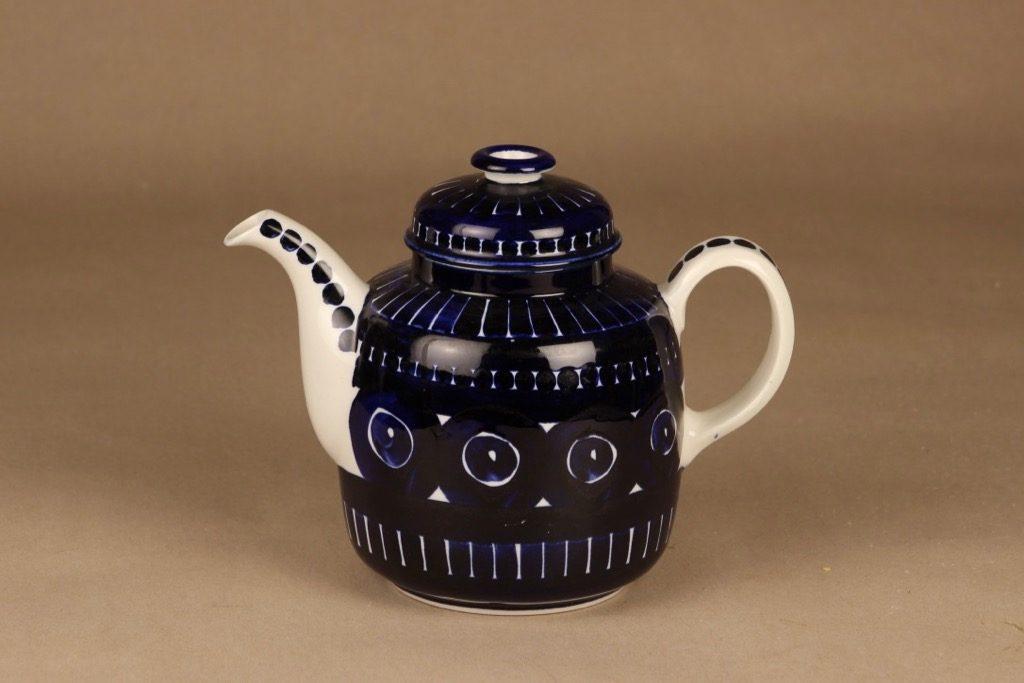 Arabia Valencia kahvikaadin, käsinmaalattu, suunnittelija Ulla Procope, käsinmaalattu, signeerattu