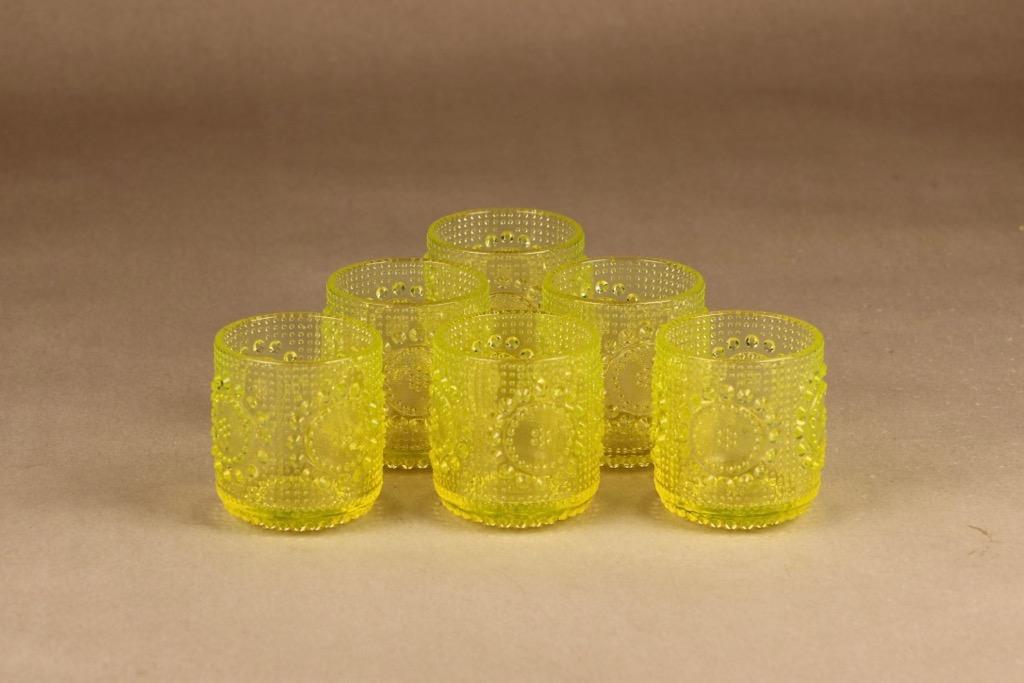 Riihimäen lasi Grapponia juomalasi, 15 cl, 6 kpl, suunnittelija Nanny Still, 15 cl
