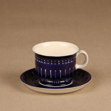 Arabia Valencia kahvikuppi, käsinmaalattu, suunnittelija Ulla Procope, käsinmaalattu, signeerattu