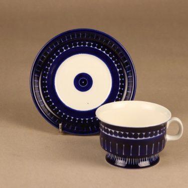 Arabia Valencia teekuppi, käsinmaalattu, suunnittelija Ulla Procope, käsinmaalattu, signeerattu kuva 2