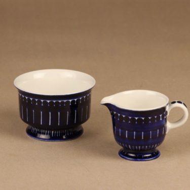 Arabia Valencia sugar bowl and creamer designer Ulla Procope