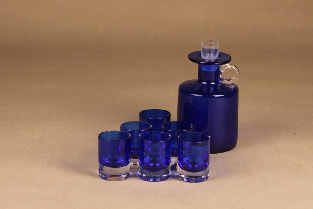 Kumela caraffe + 6 glasses designer Sirkku Kumela-Laaksonen
