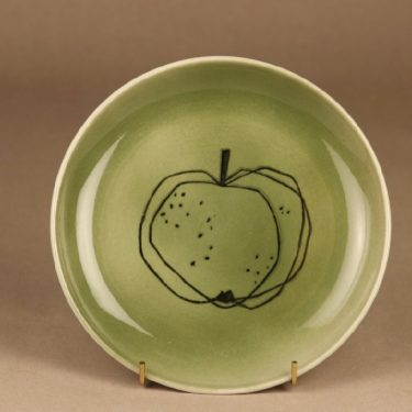 Arabia Graffito plate green Apple designer Gunvor Olin