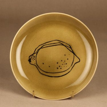 Arabia Graffito plate brown Citron designer Gunvor Olin