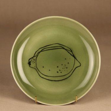 Arabia Graffito plate green Citron designer Gunvor Olin