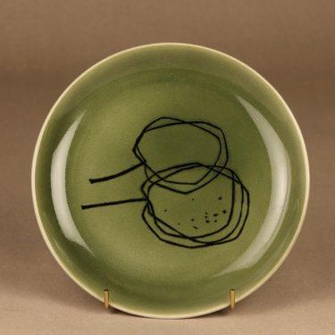 Arabia Graffito plate green Cherry designer Gunvor Olin