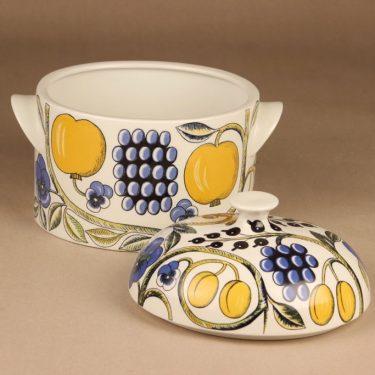 Arabia Paratiisi terriini, monivärinen, suunnittelija Birger Kaipiainen, hedelmä kuva 2