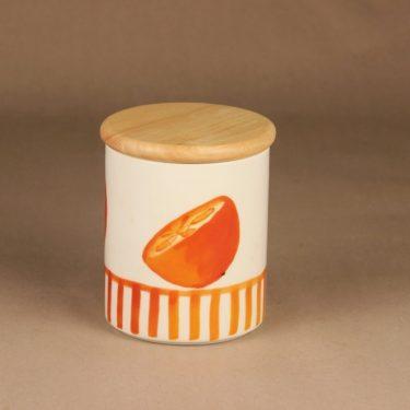 Arabia Appelsiini purkki, kannellinen, suunnittelija Minna Immonen, kannellinen, sesonkituote kuva 2