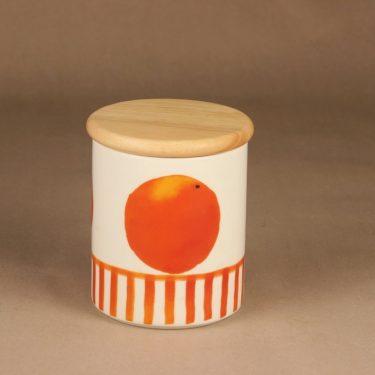Arabia Appelsiini purkki, kannellinen, suunnittelija Minna Immonen, kannellinen, sesonkituote kuva 3