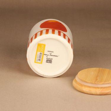 Arabia Appelsiini purkki, kannellinen, suunnittelija Minna Immonen, kannellinen, sesonkituote kuva 4